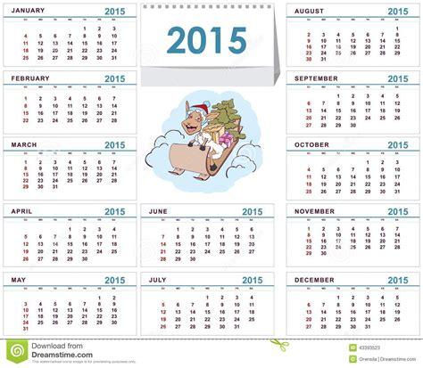calendrier de bureau calibre 2015 de calendrier de bureau illustration de