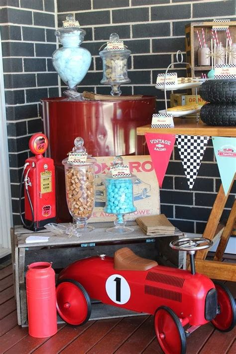 party inspirations vintage car themed dessert table