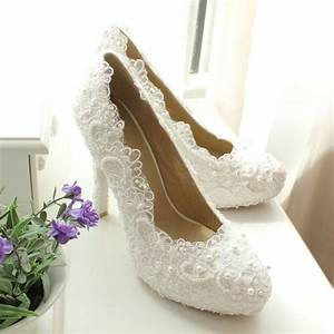 what shoes and jewelry to wear with ivory lace wedding dress With wedding dress shoes ivory
