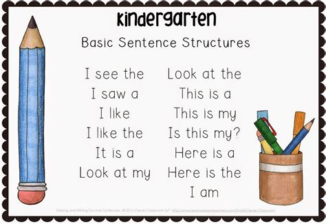 and writing sentences the bundle clever classroom 427 | Making and Writing Summer Sentences for Kindergarten Image 19
