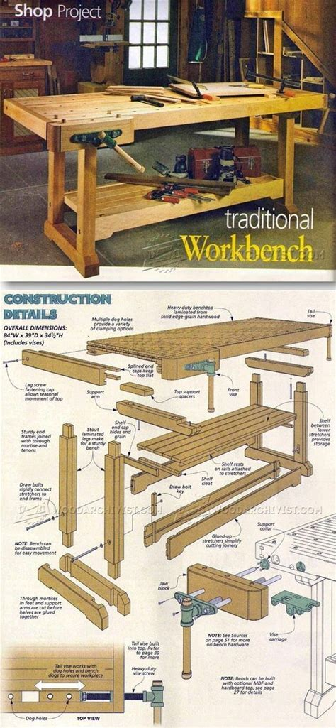 traditional workbench plans workshop solutions projects