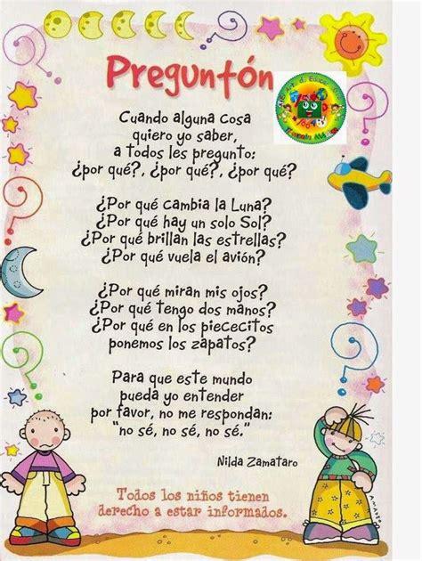 poesias para el cole poesias canciones infantiles poes 237 a para ni 241 os poemas para ni 241 os y
