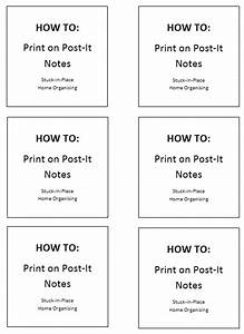 how to print on post it notes stuck in place organising With how to print on post it notes