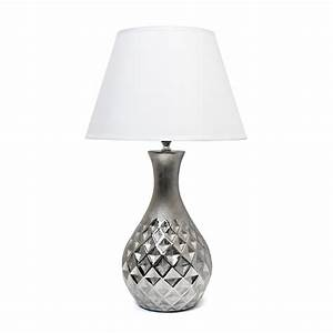 elegant designs juliet ceramic table lamp with metallic With silver ceramic floor lamp