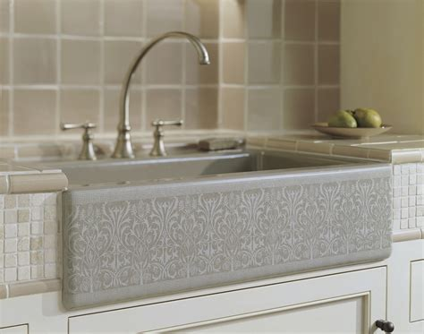 stainless steel apron sink white cabinets classic kitchen decoration with k6489 ka ornate apron