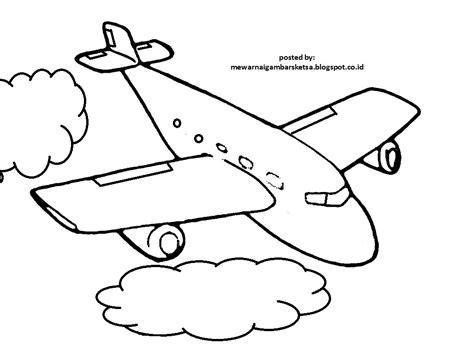 Sketsa ini dapat kita cetak dan menjadi media berlatih anak mewarnai. Mewarnai Gambar: Mewarnai Gambar Sketsa Pesawat 1