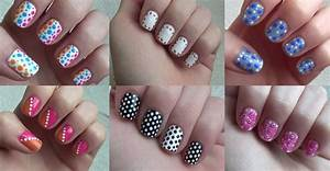 How to do six simple dot nail arts step by step DIY ...