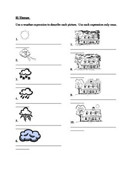 tiempo weather in spanish worksheet by jer520 llc tpt