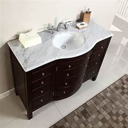 48 Inch Double Sink Bathroom Vanity Top 48 quot single sink white marble top bathroom vanity cabinet