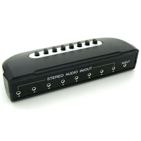 Port Stereo Manual Sharing Switch Box Audio