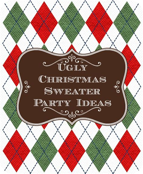 ugly christmas sweater party ideas unique christmas