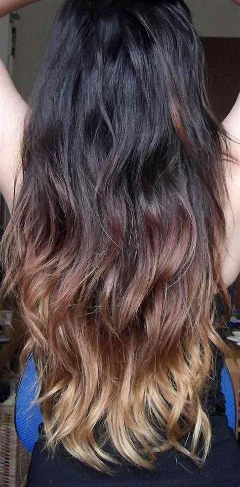 exemple tie and dye sur cheveux bruns boucl 233 s coiffure fr ombr 233