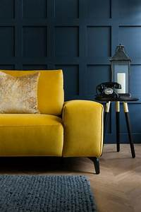 luxury, mustard, yellow, sofa, perfect, for, dark, moody, living, rooms, , featuring, a, slim, silhouette, and