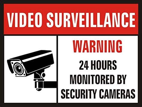 Jancosta 24 Hour Video Surveillance Sticker Decals