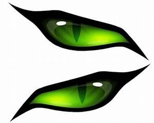 MONSTER EVIL GREEN EYES #1 VINYL DECAL SET****** eBay