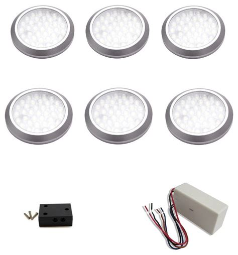 macleds 6 puck light kit with wired transformer