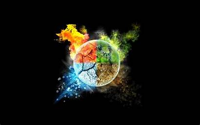 Earth Fire Water Air Elements Hdwallsource