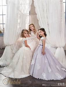 long flower girls dresses 2017 pentelei with cap sleeves With girls wedding dress