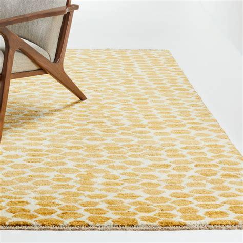 suzette yellow geometric rug crate  barrel