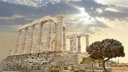 Greece Ancient Athens Greek Temple Wallpapers Wallpapertag