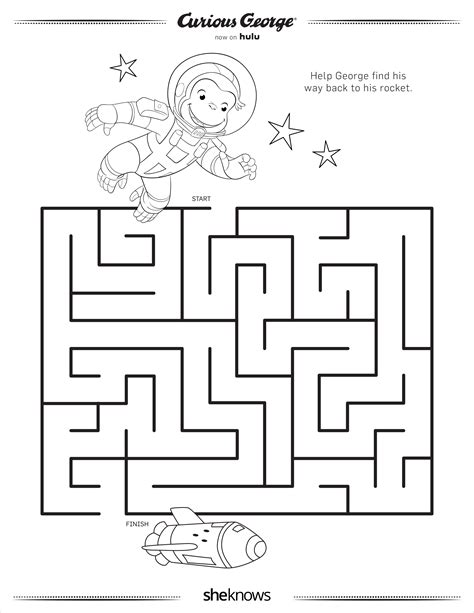 75 Curious George Coloring Pages Heart Happy
