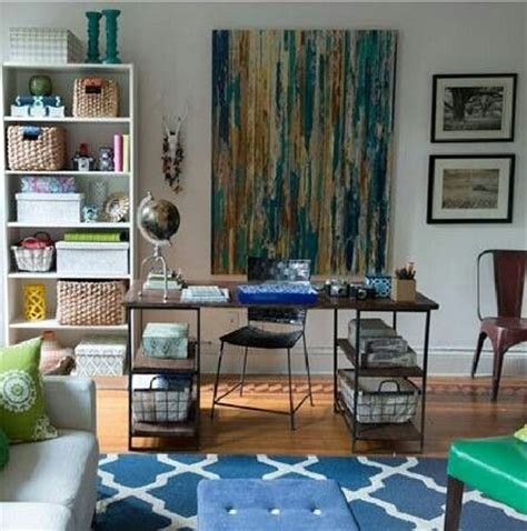 home office living room combination office and living room combo earthy chic home pinterest