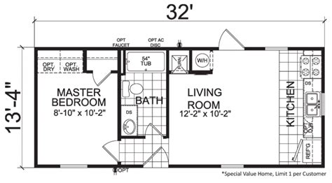Thrifty 14 X 32 427 Sqft Mobile Home