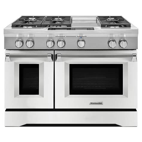 KitchenAid 48 in 63 cu ft Dual Fuel Range Double Oven