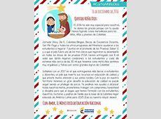 Carta al Niño Dios Ministerio de Educación Nacional de
