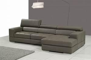 canape d39angle en cuir italien 5 places perle gris fonce With tapis chambre enfant avec canapé confort luxe cuir