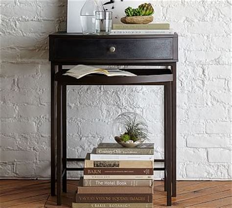 Metal Nightstand by Woodrow Metal Nesting Nightstand Set Of 2 Pottery Barn