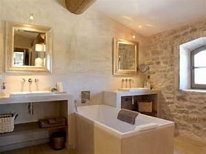salle de bains en pierre et chaux salle de bains 80 With salle de bain a la chaux