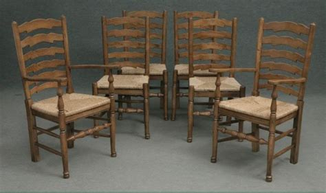reduced solid oak ladderback dining kitchen chair