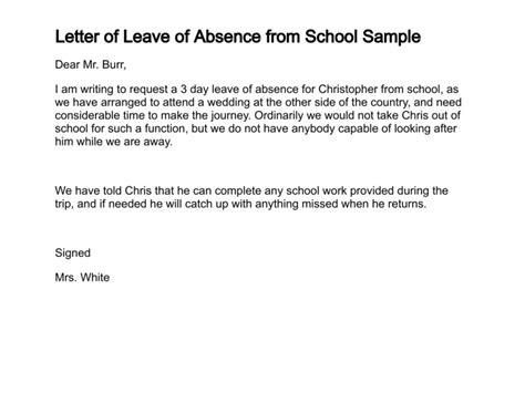 letter  leave  absence