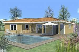 plans de maisons de plein pied nos derniers modeles en With exceptional modele de maison en l 4 photo terrasse maison provencale