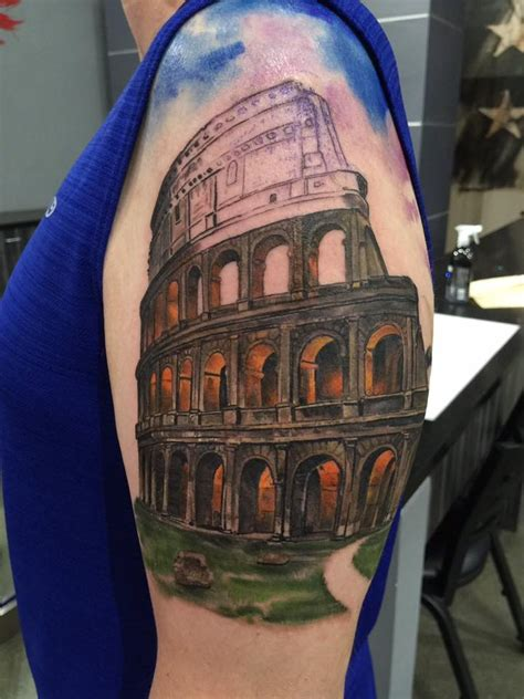 colosseum tattoo   shoulder