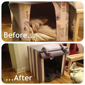 diy indoor dog house cardboard box and fabric quotcookie With diy indoor dog house