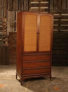 Mid Century Modern Tall Dresser Armoire By