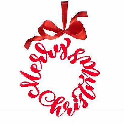 Merry Christmas Written Circle Phrase Vector Clipart