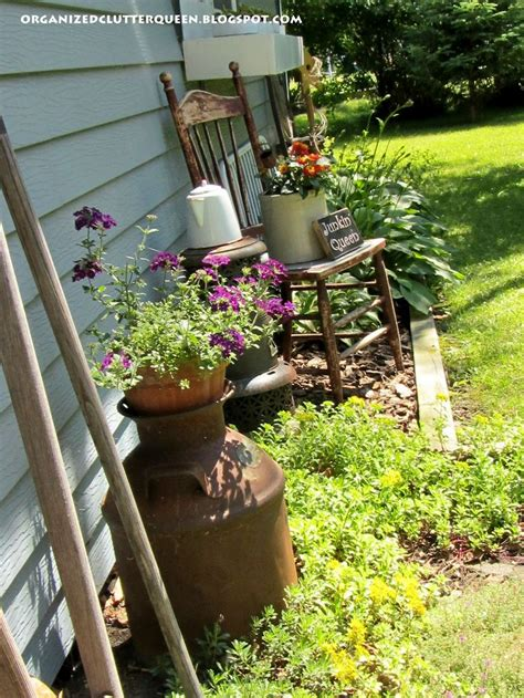 primitive garden decor ideas  pinterest