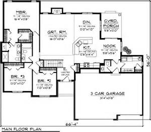 Top Photos Ideas For 2000 Sq Ft Ranch House Plans by House Plan 73298 At Familyhomeplans