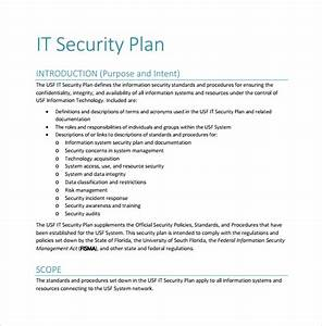 10 security plan templates sample templates With system security plan template