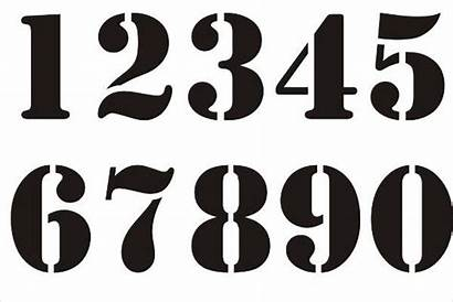 Stencils Number Numbers Stencil Clipart Templates Template