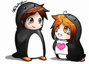 Penguin Love by RendezvousRev on DeviantArt