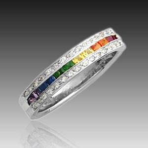 51 best sapphire rainbow images on pinterest sapphire for Matching lesbian wedding rings
