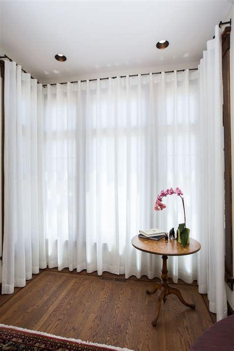 Sheer Ripple Curtains   Square Bay   Bay Window