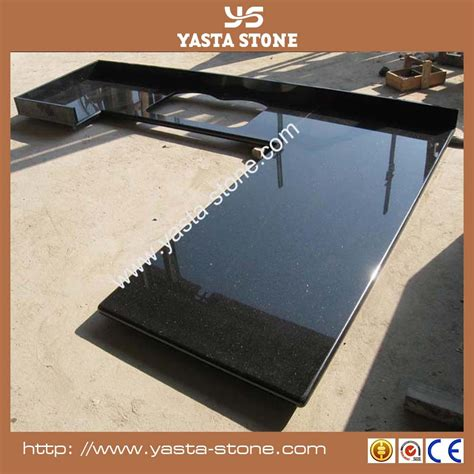 cheap price laminated black galaxy granite kitchen