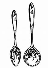 Spoon Soup Coloring Spoons Clipart Kitchen Cooking Utensils Clip Drawing Line Terms Printable Long Ladle Shaped Clipartpanda Cliparts Nails Library sketch template