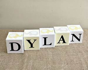 202 best images about decorative wood blocks on pinterest With letter blocks for baby name