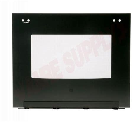 wgl ge range outer oven door panel glass black amre supply